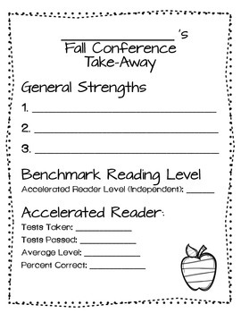 Learning Goals & Data Tracking Conference Take-Away Bundle for Parents!