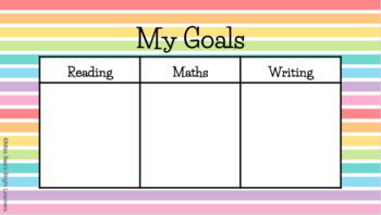 Goal Getter Learning Goals (Visible Learning Goal Setting) Grade 2 & up