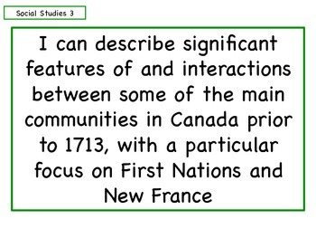 Learning Goals - Grade 5 - Social Studies - Heritage and Citizenship