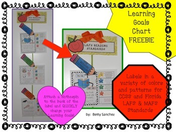 Learning Goals Labels FREEBIE!