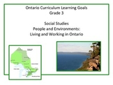Learning Goals - Ontario Gr 3 Social Studies - Living and