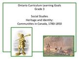 Learning Goals - Ontario Grade 3 Social Studies - Communities in Canada