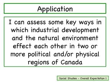 Learning Goals - Ontario Grade 4 Social Studies Canada