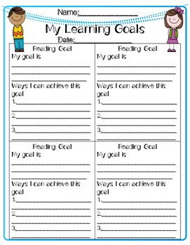 Learning Goals Planning Sheet