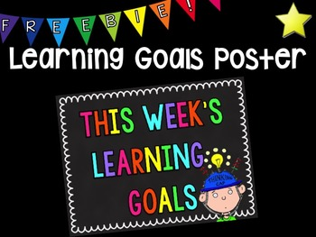 Learning Goals Poster Freebie