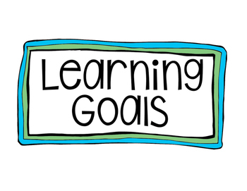 Learning Goals Posters