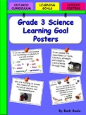 Grade 3 Science Learning Goals Posters - 64 pages