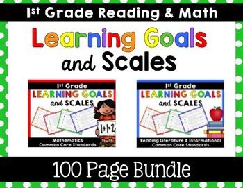 Learning Goals & Scales {1st Grade Bundle}