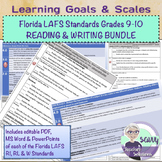 Learning Goals & Scales BUNDLE Florida (LAFS) RI, RL & W Standards Grades 9-10