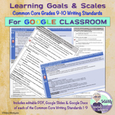 Learning Goals & Scales for Common Core Writing Standards