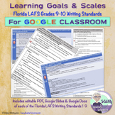 Learning Goals & Scales for Florida LAFS Writing Standards