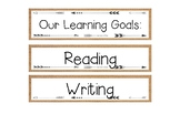 Learning Goals Subject Titles