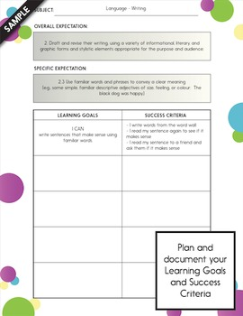 Learning Goals & Success Criteria Posters - Little Monster - Fun & Cute