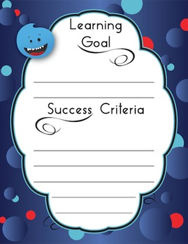 Learning Goals & Success Criteria Posters - Little Monster