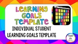Learning Goals Template