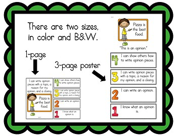 Learning Goals and Scales - 1st Grade ELA - W for Common Core (2 Sizes)
