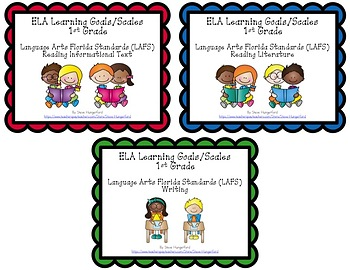 Learning Goals and Scales - 1st Grade ELA - Bundle for Florida (2 Sizes)