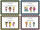 Learning Goals and Scales - 1st Grade Math - Bundle for Common Core (2 Sizes)