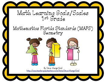 Learning Goals and Scales - 1st Grade Math - G for Florida (2 Sizes)