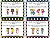 Learning Goals and Scales - 1st Grade Math - Bundle for Florida (2 Sizes)