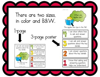 Learning Goals and Scales - 1st Grade ELA - RI for Florida (2 Sizes)