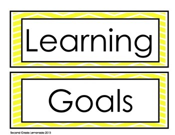 Learning Goals and Scales Printables
