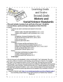 Learning Goals and Scales Second Grade Social Studies UPDATED
