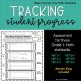 Tracking Student Progress FREEBIE - Math Learning Goals and Scales Grade 4