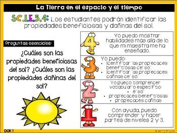 Learning Goals for Science & Social Studies in Spanish (FL Standards 1st Grade)