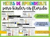 Learning Goals for Science and Social Studies (Florida Standards Kindergarten)