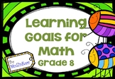 Learning Goals in Math - Grade 8