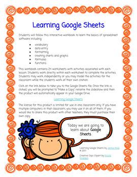 Learning Google Sheets