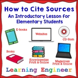 Citing Source, Citation, Plagiarism, Library Lesson, Report Writing