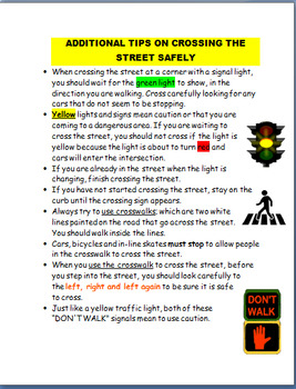 Safety- Learning How to Cross the Street Safely