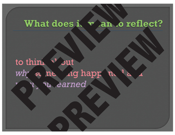 """Learning How to Reflect through """"Show & Tell"""""""