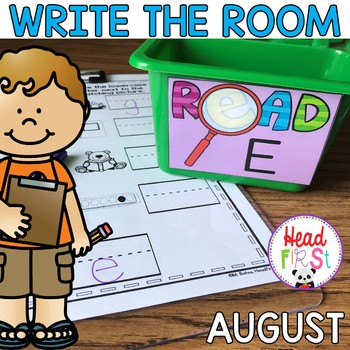 August Learning Hunt - Write the Room- ELA/Math Center