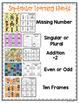 September Learning Hunt - Write the Room- I Spy ELA/Math Centers Back to School