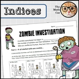 Learning Indices/Powers through a Zombie Investigation! Pr