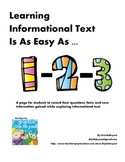 Learning Informational Text Is As Easy As 1-2-3