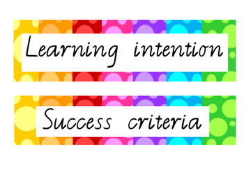 Learning Intention Display (VIC Font)