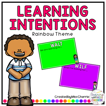 Learning Intention Posters (Rainbow Theme)