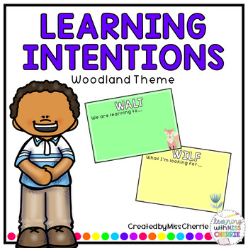 Learning Intention Posters (Woodland Theme)