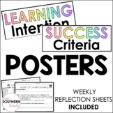 Learning Intention Success Criteria Posters | Weekly Refle