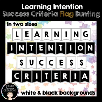 Learning Intention Success Criteria Flag Bunting