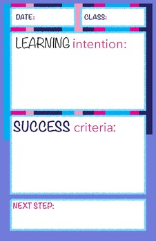 Learning Intention, Success Criteria, Next Step