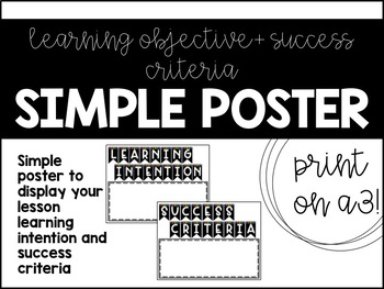 Learning Intention + Success Criteria Posters / Bunting Style