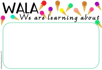 Editable Learning Intention and Success Criteria Posters - Ice Cream Theme