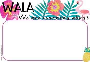 Editable Learning Intention and Success Criteria Posters - Tropical Theme