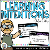 Learning Intentions Posters - Editable