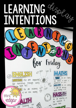 Learning Intentions Display